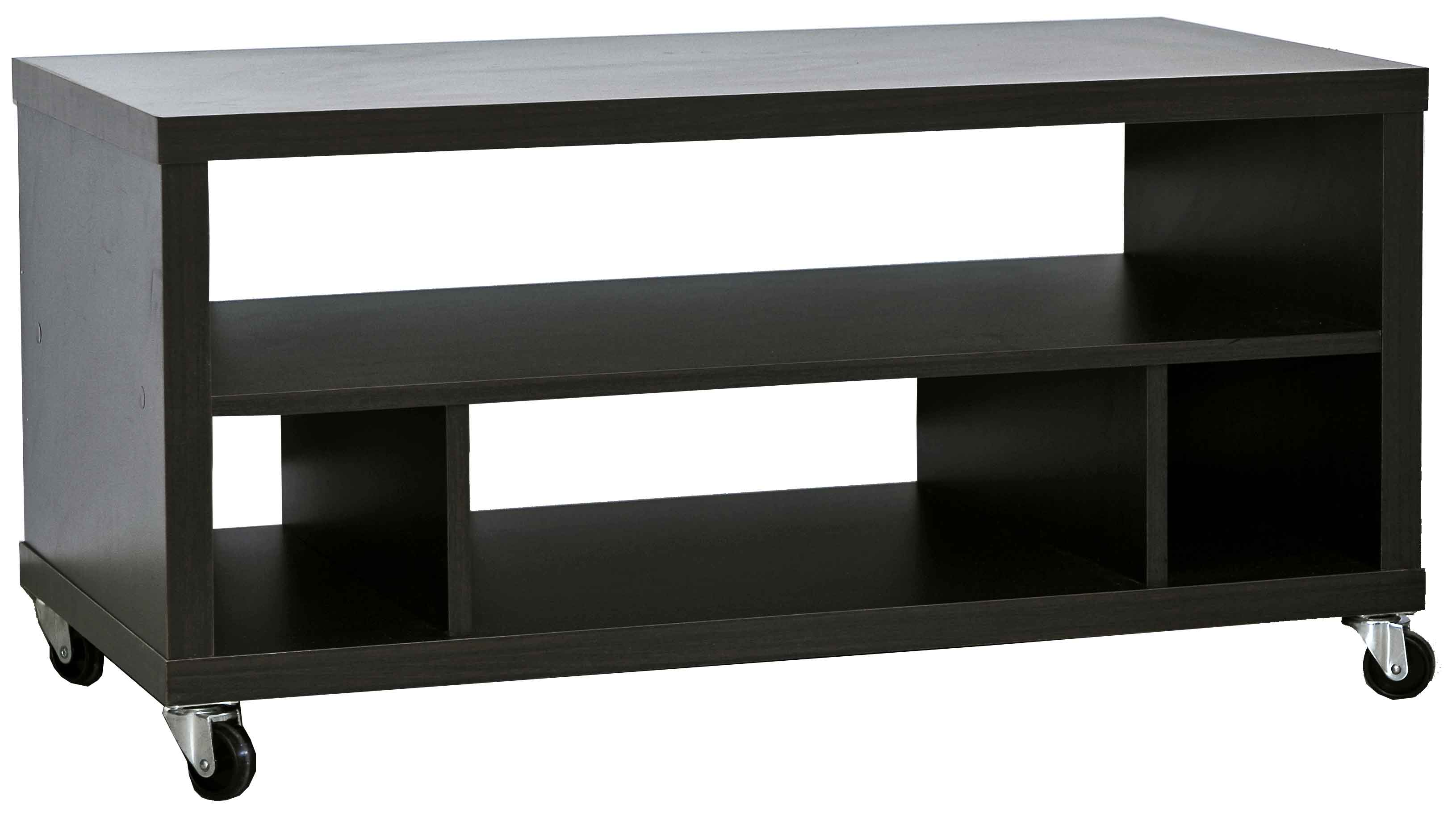 TV STAND MELAMINE WENGE COLOR WITH PVC ENDING :30mm 15mm - -