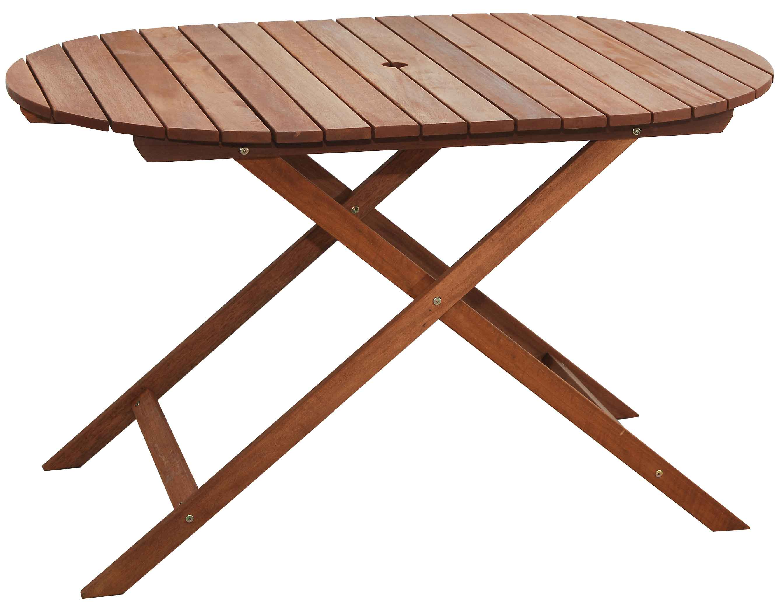 FOLDING WOOD MERANTI OVAL TABLE L100*W80*H70cm WEIGHT:10.5kg