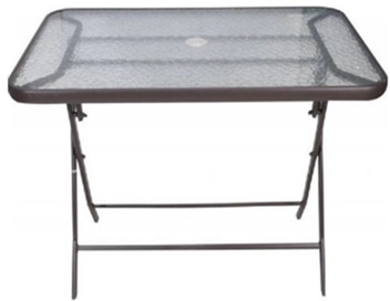 METAL FOLDING TABLE L120ΧW70ΧH70cm