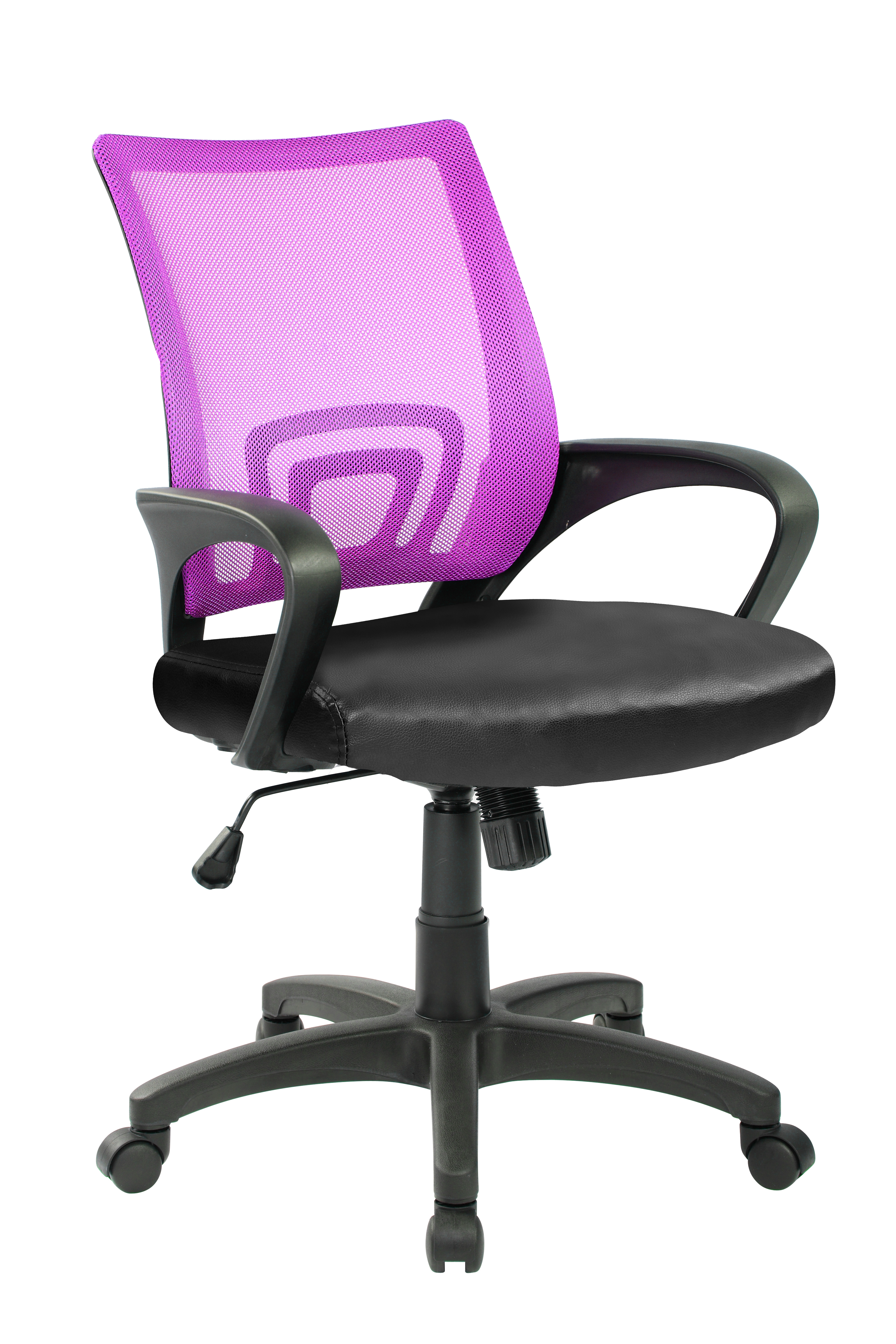 OFFICE CHAIR PURPLE -BLACK, ARMS