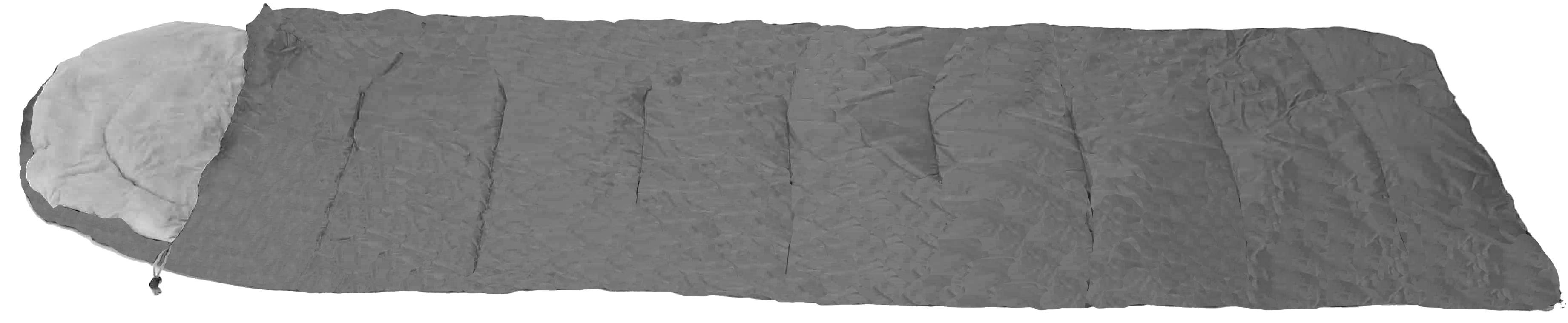 SLEEPING BAG PINATUBO GRAY 220X75cm  WITH PILLOW & CASE