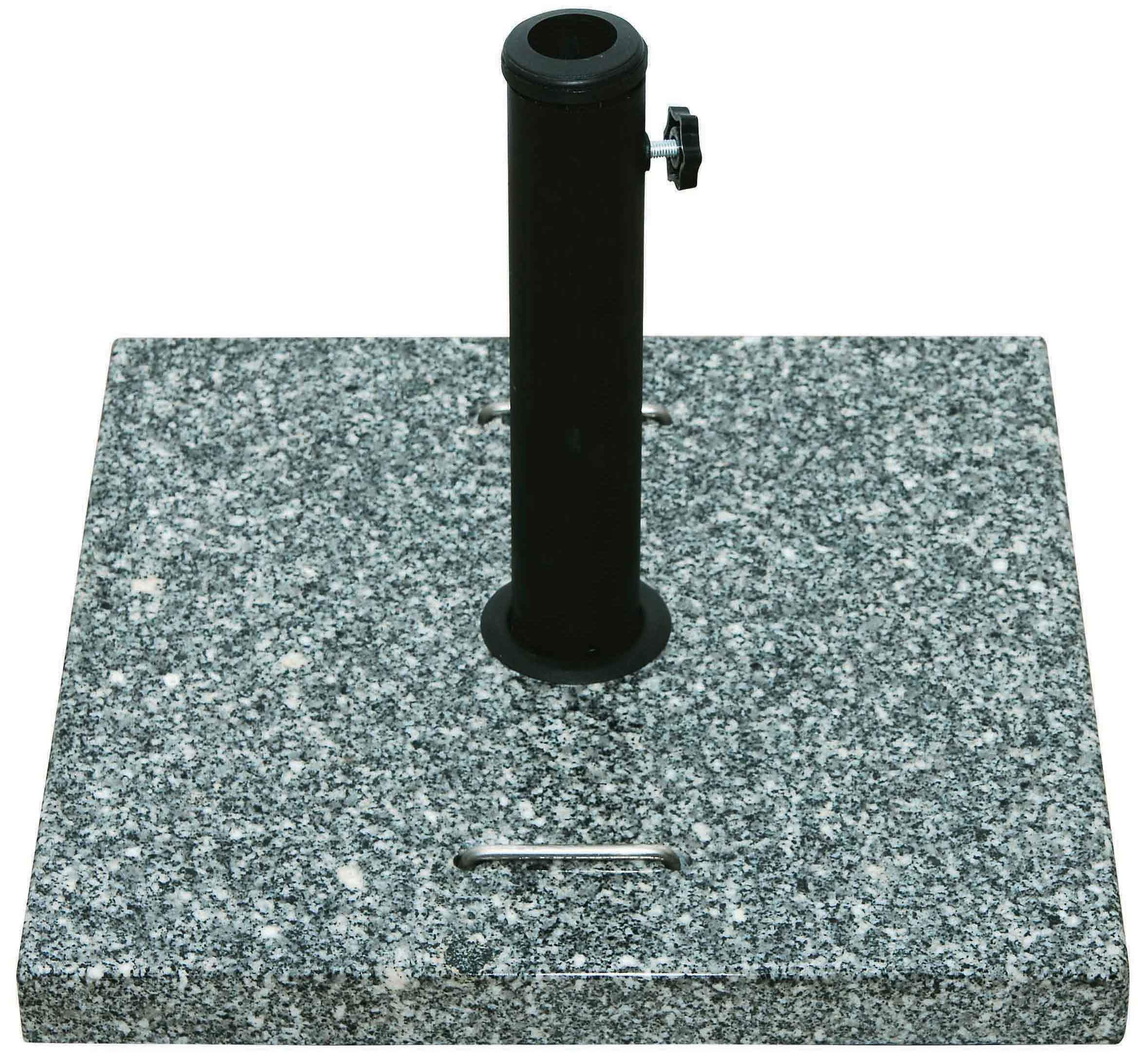 GRANITE UMBRELLA BASE SQUARE 35kg WITH TRANSFER HANDLES