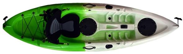 ΜΟΝΟΘΕΣΙΟ KAYAK 270x80x30εκ - GREEN WHITE, ΜΕ ΚΑΘΙΣΜΑ & ΔΙΠΛΟ ΚΟΥΠΙ