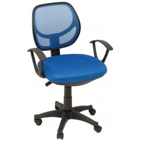 OFFICE CHAIR BLUE BASE:NYLON SEAT THICKNESS: 8cm INNER SEAT:
