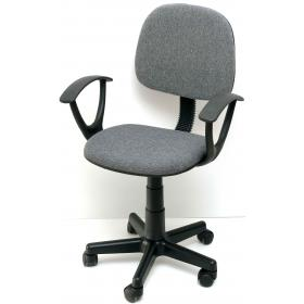 CHILDREN OFFICE CHAIR GREY WITH ARMS-WEIGHT:6,80kg - W56ΧD45