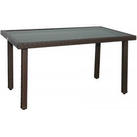 ALU RATTAN TABLE L120ΧW70ΧH74cm