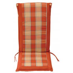 CUSHION ORANGE PLAID FOR HIGH BACK CHAIR DOUBLE FACE 119Χ48Χ