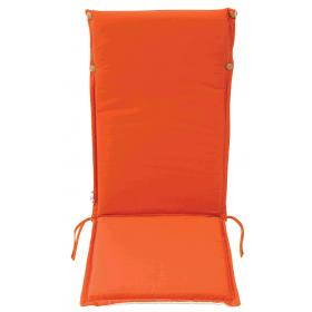 ORANGE CUSHION FOR HIGH BACK CHAIR DOUBLE FACE 119Χ48Χ4cm -