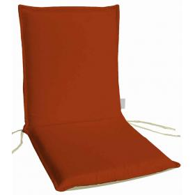 CUSHION ECRU-DARK ORANGE FOR LOW BACK CHAIR DOUBLE FACE 96Χ4
