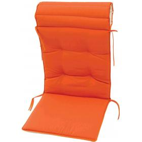 CUSHION ECRU-ORANGE MUTLI POS DOUBLE FACE FOR CHAIR 138Χ47Χ4