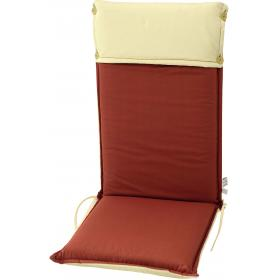 CUSHION ECRU-RED FOR HIGH BACK CHAIR DOUBLE FACE  119Χ48Χ7cm