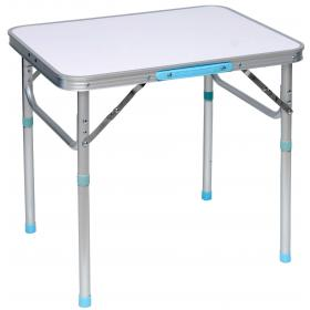 COLLAPSIBLE ALUMINIUM TABLE WITH ADJUSTABLE LEGS