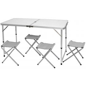 SET TABLE WITH 4 STOOLS POLYESTER 600D TUBE:22/25mm STOOL: 4