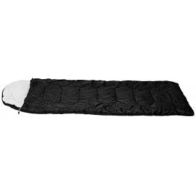 SLEEPING BAG PINATUBO BLACK 220X75cm  WITH PILLOW & CASE,TΕM