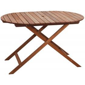 FOLDING WOOD MERANTI OVAL TABLE L100*W80*H70cm WEIGHT:10.5kg