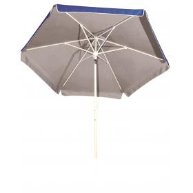 BEACH-PORCH-GARDEN UMBRELLA BLUE - SILVER COATING- HEAVY TYP