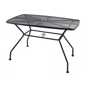 METAL TABLE GREY L115ΧW70ΧH73cm