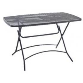 METAL TABLE  GREY L116ΧW70ΧH73cm