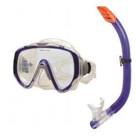 SET MASK & SNORKEL  BLUE PVC