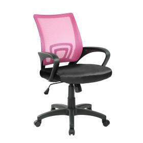 OFFICE CHAIR PINK -BLACK,  ARMS
