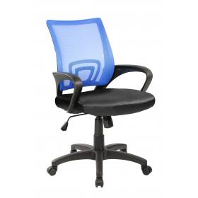 OFFICE CHAIR BLUE -BLACK,  ARMS
