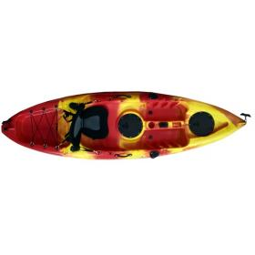 KAYAK 270x80x30cm- RED-YELLOW, 1SEAT & DOUBLE PADDLE