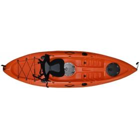 KAYAK 270x80x30cm-ORANGE, 1SEAT & DOUBLE PADDLE