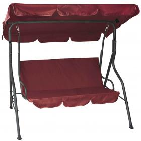 3 SEAT SWING BURGUNDY-CHARCOAL GREY METAL-REINFORCED