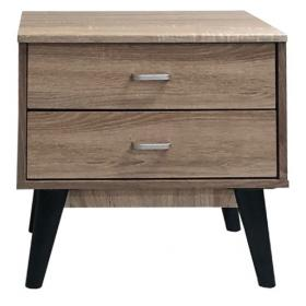BEDSIDE TABLE  WITH 2 DRAWERS-MAPLE COLOR -DIMENSIONS:W48ΧD3