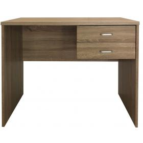 COMPUTER DESK  WITH 2 DRAWERS-MAPLE COLOR