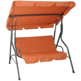 3 SEAT SWING ORANGE-CHARCOAL GREY-REINFORCED