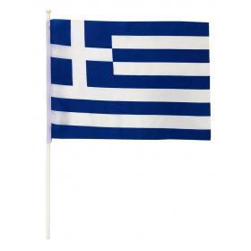 GREEK FLAG WITH POLE 40x30cm