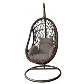 HANGING ARMCHAIR WITH BLACK METAL - TWO TONS RATTAN