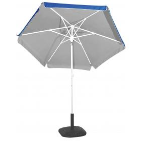 PORCH-GARDEN-BEACH UMBRELLA BLUE-SILVER COATING- 2m POLE: ME