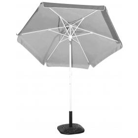PORCH-GARDEN-BEACH UMBRELLA GRAY-SILVER COATING- 2m