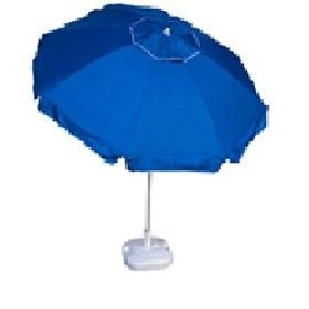 PORCH-GARDEN-BEACH UMBRELLA BLUE WITH SILVER COATING INSIDE