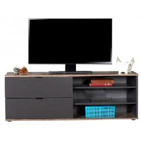 TV STAND LATE/ANTHRACITE-2 DRAWERS-3 SHELVES -D:W120xD35xH48